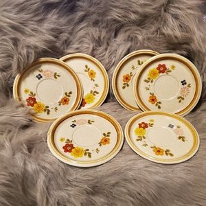 Vintage Mikasa 6 Small Plates with Flowers
